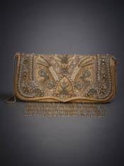 Golden Sonar Embroidered Sling Bag