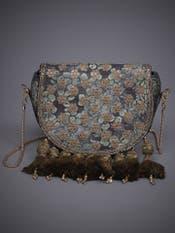 Black Vrindavan Sling Bag