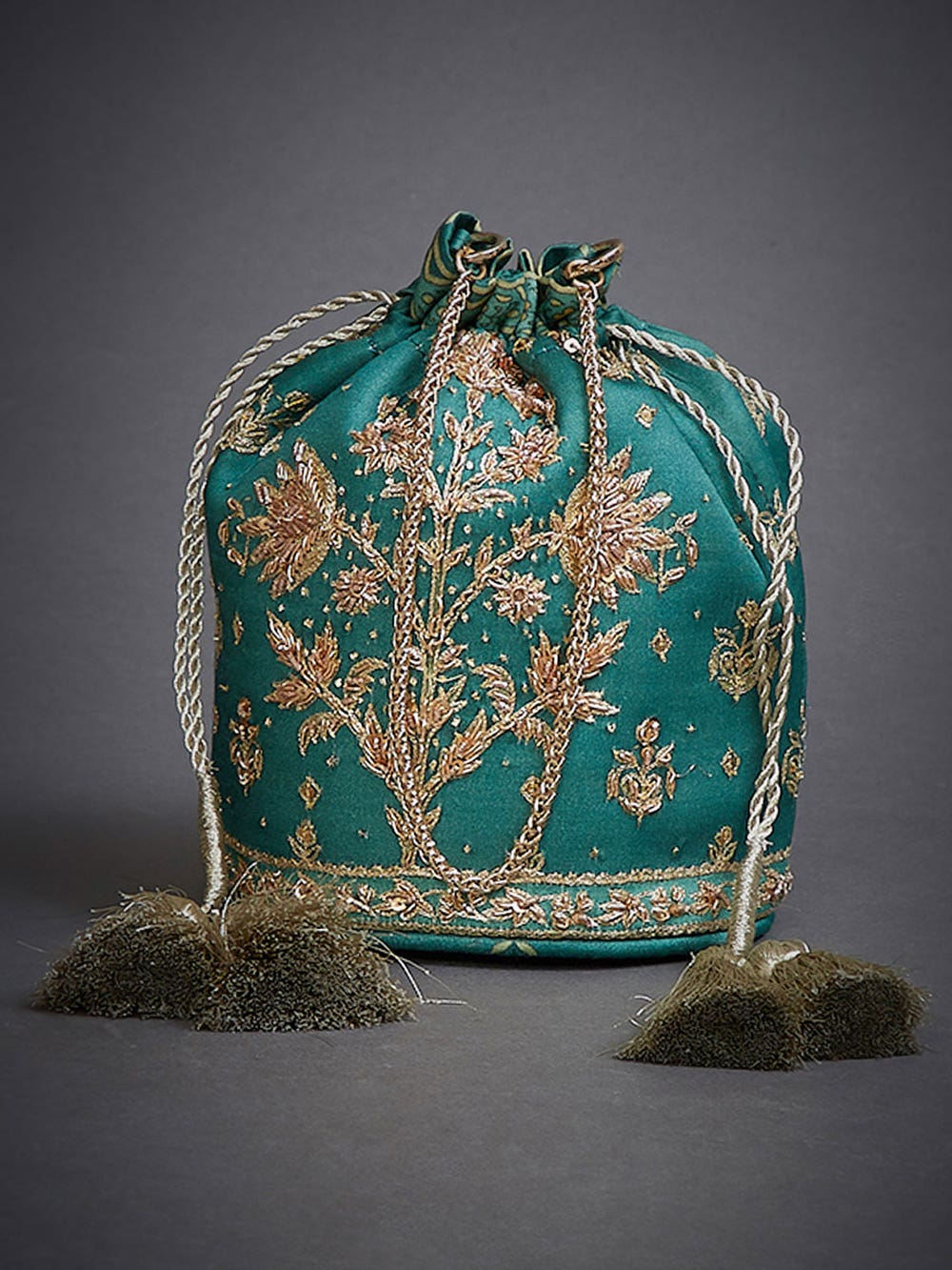 Emerald Green Jaya Embroidered Potli