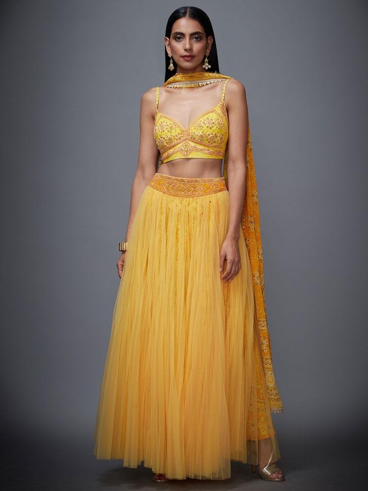 Sunflower Yellow Megha Lehenga Set