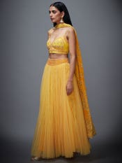 Sunflower Yellow Megha Lehenga Set