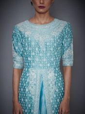 Aquamarine Sana Embroidered Kurta With Dupatta And Palazzo