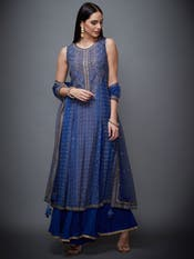 Royal Blue Hand Embroidered Suit Set