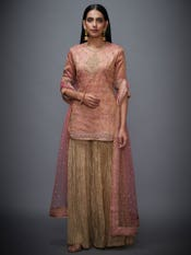 Pink & Gold Lavleen Embroidered Suit Set