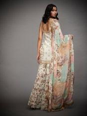 Ecru & Multi Colour Jamuna Embroidered Suit Set