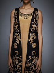 Black & Gold Embroidered Ensemble