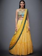 Yellow & Turquoise Marvia Lehenga Set