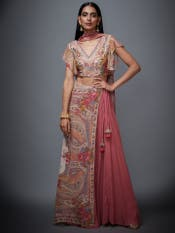 Pink & Ivory Marvia Lehenga Set