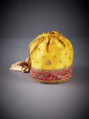 Yellow Embroidered Potli