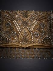 Gold Embroidered Sling Bag