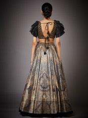 Black & Beige Niscira Embroidered Lehenga Set
