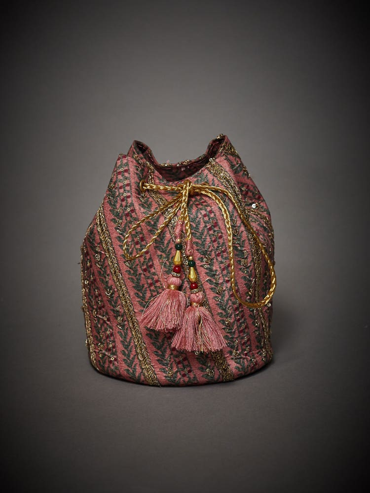 Rose Pink Embroidered Uttama Potli