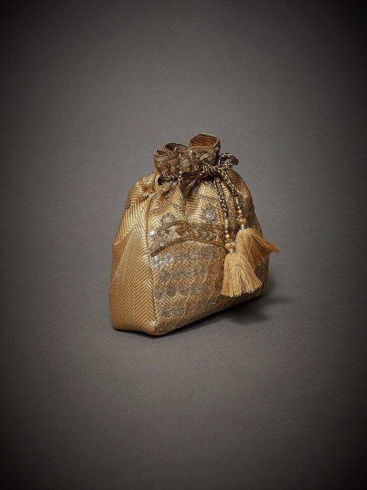 Gold Embroidered Yamini Potli