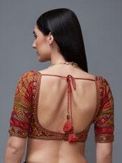 Black Madhuhira Silk Saree With Stitched Blouse