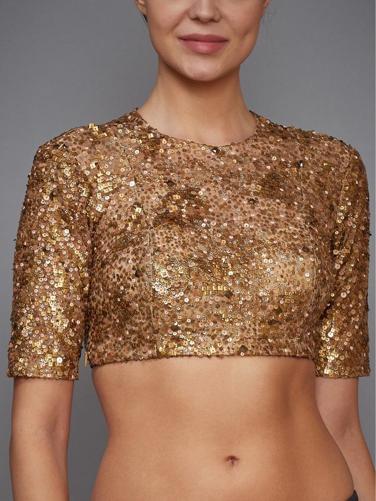 Golden Embellished Blouse