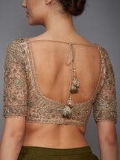 Pastel Pink Treena Embroidered Blouse