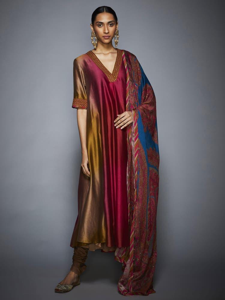 Multi Color Ombre Suit Set