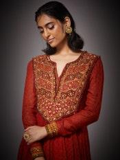 Rust Megha Embroidered Suit Set