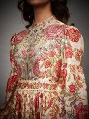 Off-White & Grey Navina Printed Dress