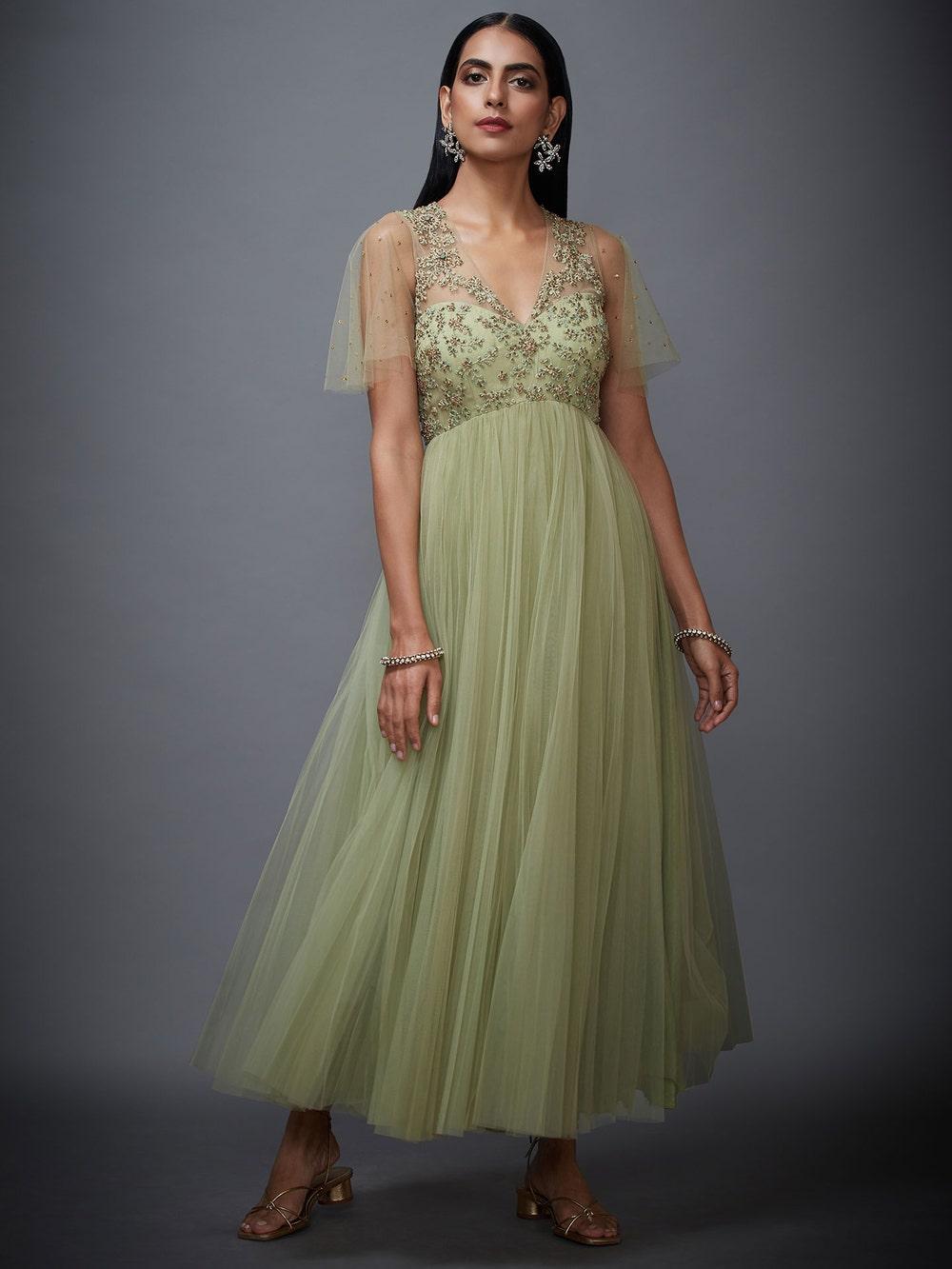 Mint Green Begum Net Dress