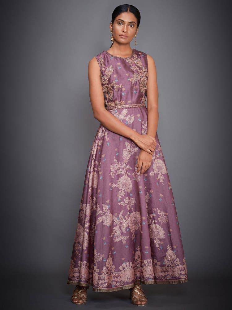 Mauve & Pink Floral Dress