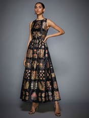 Kriti Sanon in a Black Embroidered Dress