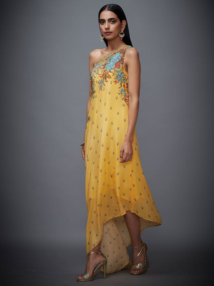 Yellow & Turquoise Marvia Dress