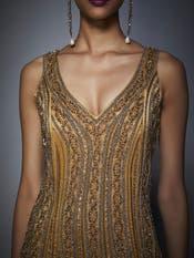Gold Embellished Cocktail Dress