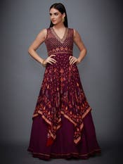Prune Ikat Dress