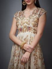 Ecru Chintz Gown