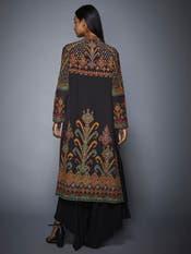 Black Manvi Hand Embroidered Jacket