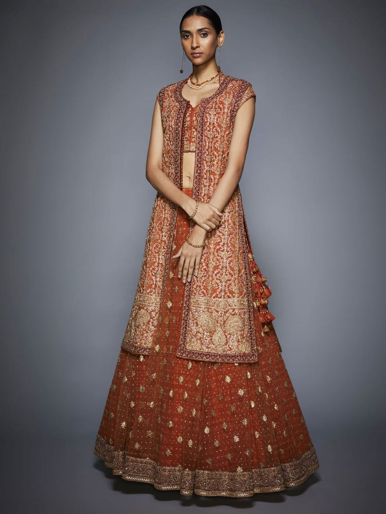 Rust & Gold Lara Bridal Jacket