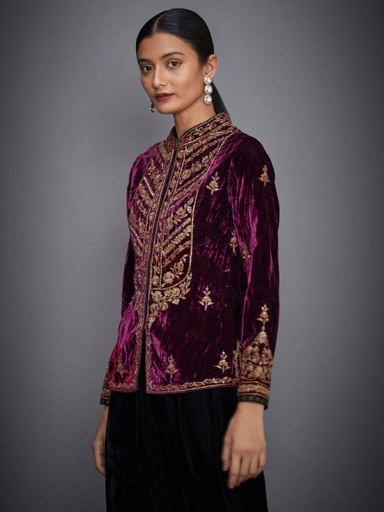 Burgundy Embroidered Jacket