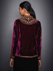 Burgundy Embroidered Jacket