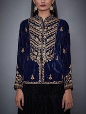 Indigo Embroidered Jacket