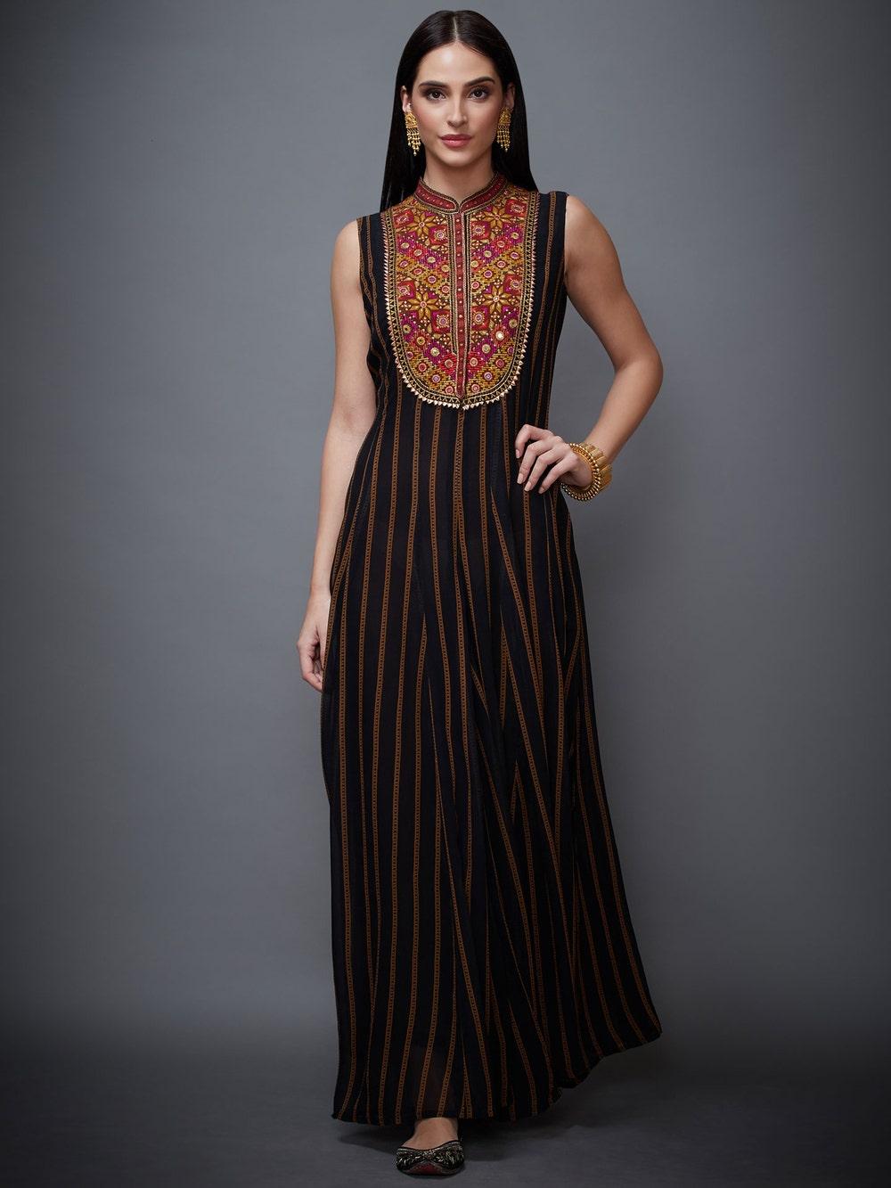 Black Madhuhira Printed Jumpsuit