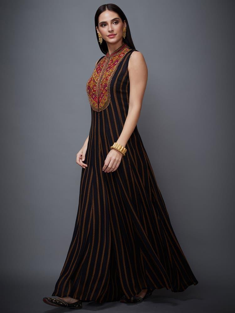 Black Madhuhira Printed Madhuhira Jumpsuit