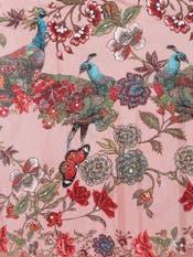 Pink Floral Print Lehenga Set