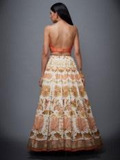 Surveen Chawla in a Coral & Ecru Chintz Lehenga Set