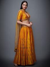 Topaz Yellow & Beige Begum Zardozi Lehenga Set