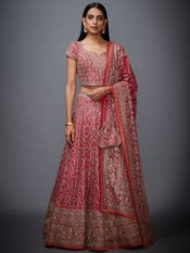 Fuchsia Embroidered Lehenga Set