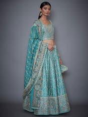 Blue Aditi Zardozi Embroidered Lehenga Set
