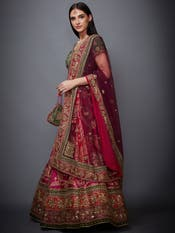 Pink & Purple Embroidered Lehenga Set