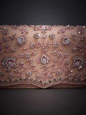 Pastel Pink Embroidered Sling Bag