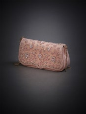 Pastel Pink Pearl Embroidered Sling Bag