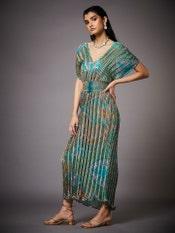 Aquamarine & Jade Ricka Jamawar Print Dress