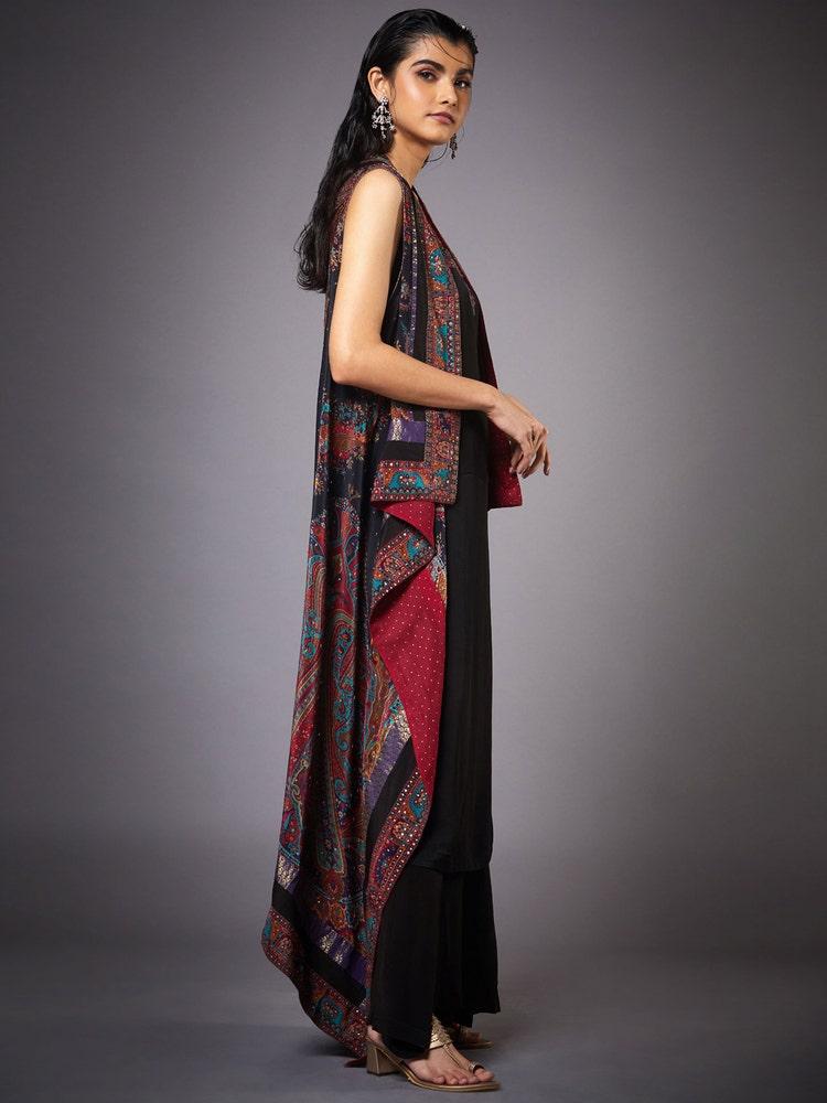 Black Nagina Embroidered Ensemble