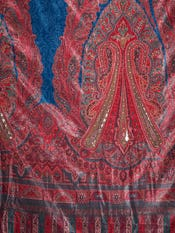 Rust & Teal Blue Nagina Jaamevar Shawl